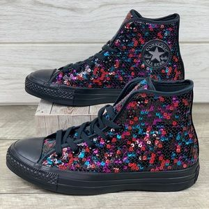 Converse CTAS HI  Black Blue Cherry
